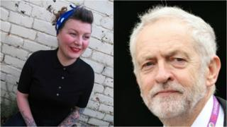 Sophie McKeand a Jeremy Corbyn