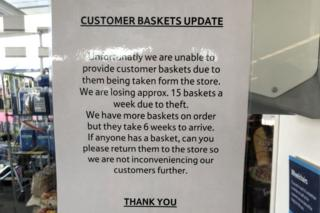 A sign at Tesco in Stornoway