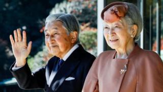 امپراتور آکیهیتو و خانمش میچیکو