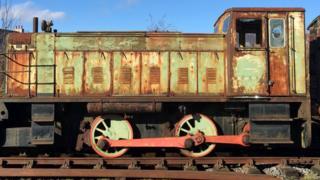 Vandalised train