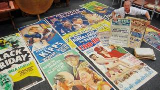 Ben Rogers Jones with the posters