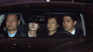 Prezida wa Korea y'epfo aherutse kuvanwa mu mabanga, Park Geun-hye, afungiwe mu nzu iri mu gisagara ca Seoul