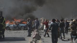 تصویری از انفجار کابل