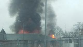 Fire at Stobhill hospital