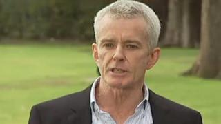 Malcolm Roberts speaks to reporters