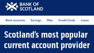 Bank of Scotland website