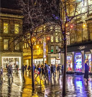 Glasgow's Gordon Street is captured in all its rainy splendour by photographer Mehran Haddadi