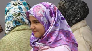 Muslim women in Berlin, Oct 08 pic