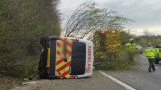 The ambulance crash on the M4