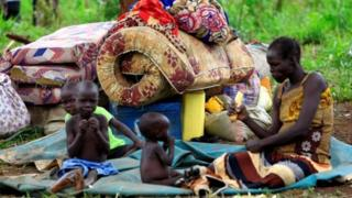 Түштүк Судандагы согуштан качкан качкындар.