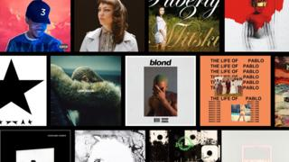 Covers for some of the Top 20 albums of 2016