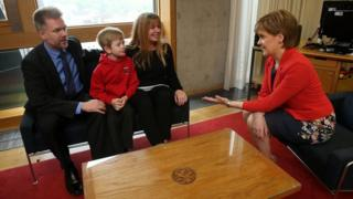 Brain family with Nicola Sturgeon