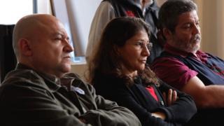 Miembros de las FARC en el encuentro