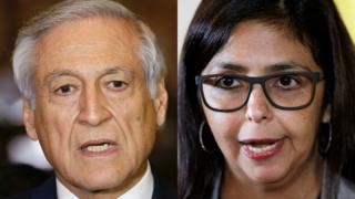 Cancilleres de Chile y Venezuela