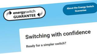 Energy Switch Guarantee website image