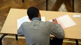 A pupil sits exams. Archive photo