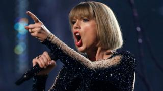 "Taylor Swift performs ""Out of the Woods"" at the 58th Grammy Awards in Los Angeles, California, U.S. on 15 February, 2016."