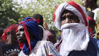 Nchini Mali, hawa watu wa kabila la Fulani waliandamana katika jiji kuu la Bamako siku ya Alhamisi kutokana na mgogoro kati ya wafugaji wa Fulani na wakulima katikati mwa Nigeria