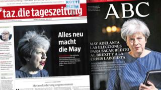 European newspaper front pages