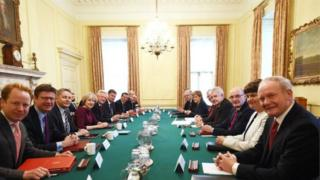 Arlene Foster, Martin McGuinness and other leaders attended a Joint Ministerial Committee meeting at Downing Street today chaired by Prime Minister Theresa May.