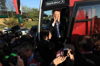 Labour leader Jeremy Corbyn after speaking in Morley, Leeds. 9 May
