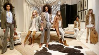 Models pose for Autumn 2016 New York fashion week
