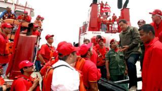 Hugo Chávez en Lagunillas