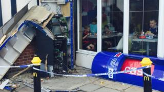 Blown up cash point