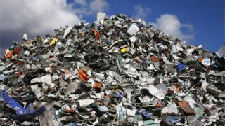 A pile of landfill
