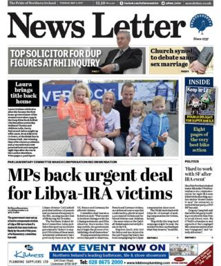Front page of the News Letter on 2 May
