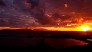 Sunset over Eigg and Rhum