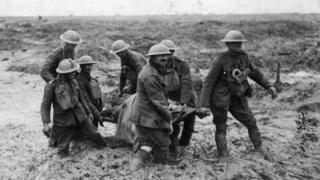 Soldiers at Passchedaele, World War One