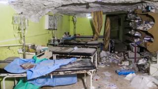 разбомбленная больница