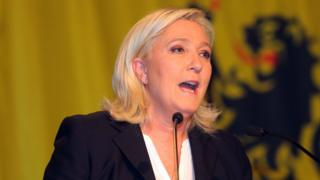 National Front President Marine Le Pen