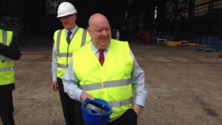 Joe Anderson at Camell Laird shipyard