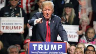 Donald Trump at Michigan rally