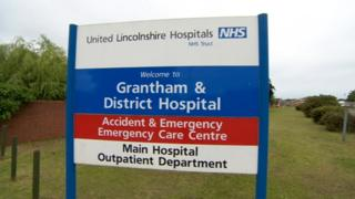 Grantham and District Hospital sign