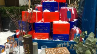Boxes of panettone