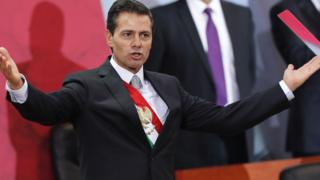 Mexican President Enrique Peña Nieto delivers his fifth message to the nation, in Mexico City, 2 September 2017