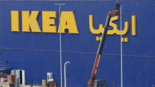 An Ikea store under construction in Morocco