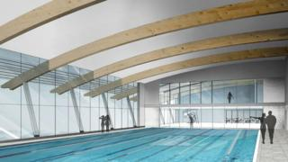An artist's impression of the new pool