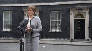 Nicola Sturgeon in Downing Street