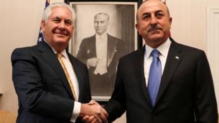ABD Dışişleri Bakanı Rex Tillerson ve Dışişleri Bakanı Mevlüt Çavuşoğlu