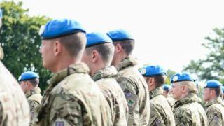 British soldiers on peacekeeping mission in Cyprus