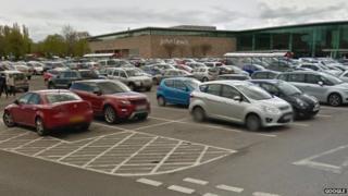 The car park outside John Lewis' Cheadle branch