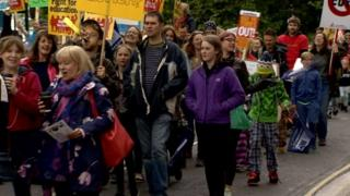 Bristol education cuts protest