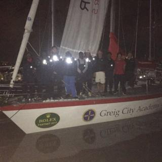 Greig City Sailing team arrive at Plymouth