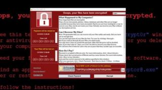 มัลแวร์เรียกค่าไถ่ชื่อ WannaCry เข้าปิดล็อกระบบคอมพิวเตอร์ในหลายประเทศและเรียกร้องเงินค่าไถ่เพื่อปลดล็อก