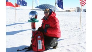 Ben Cooper at the South Pole