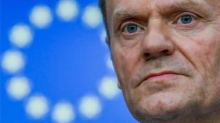 Donald Tusk at an EU summit in Brussels. Photo: 9 March 2017